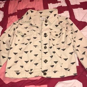 Forever 21 cream jean jacket
